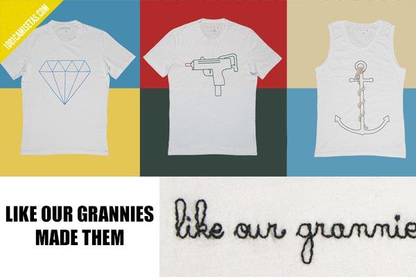 Camisetas vintage bordadas