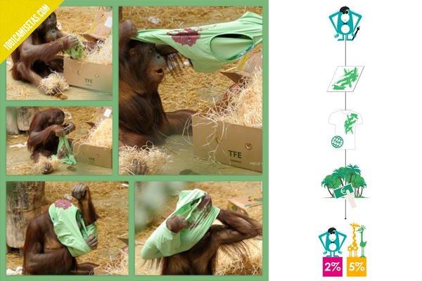 Camisetas hechas por monos