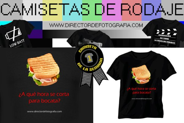 Camiseta de la semana director-de-fotografia