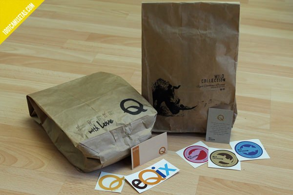 Packaging reciclado camisetas
