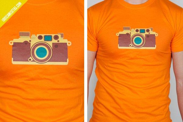 Camiseta camara fotos
