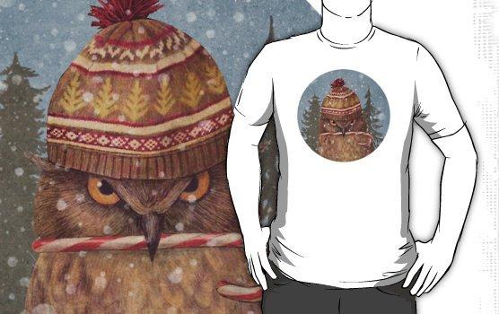 Camiseta christmas owl