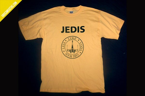 Camiseta infantil star wars ramones