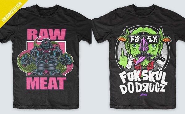 Camisetas monstruos