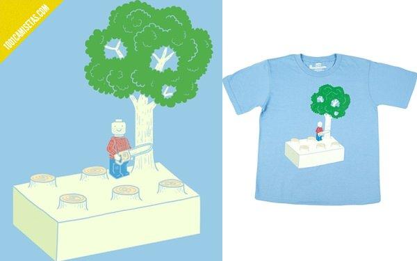 Camiseta infantil lego