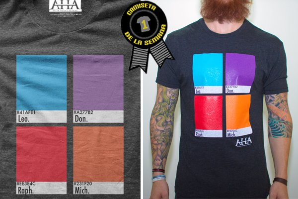 Camiseta de la semana Turtle Power e12501f9715