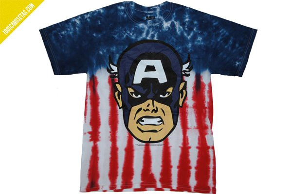 Camiseta old school capitan america