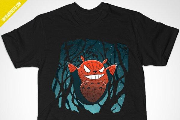 Camiseta spiderman Totoro