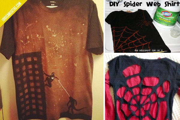 Camisetas spiderman DIY