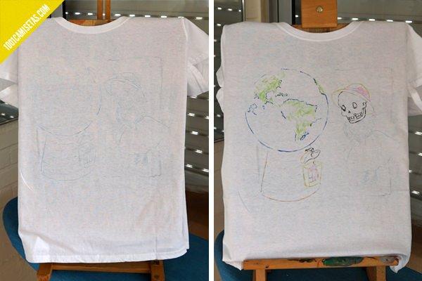 Camisetas pintadas a mano