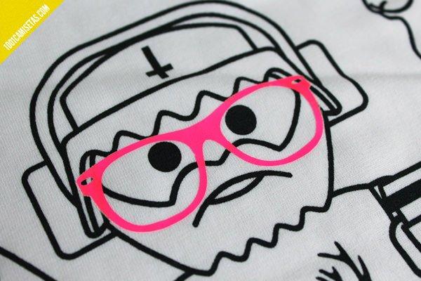 Camiseta serigrafia vinilo