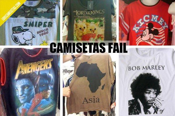 Camisetas fail