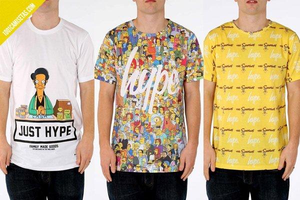 Camisetas simpsons hype