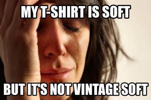T-shirt vintage soft meme