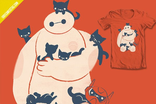 Camiseta big hero gatos