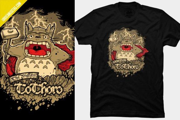 Camiseta thor totoro