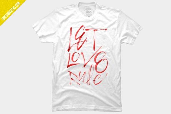 Camiseta tipografica san valentin