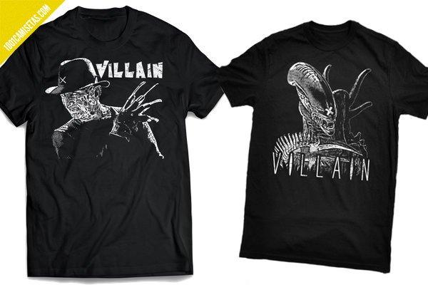 Camiseta malos terror