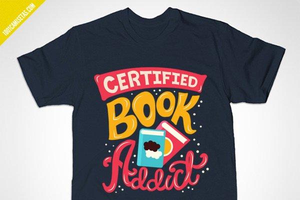 Camisetas adictos libros