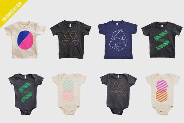 Camisetas geométricas infantiles