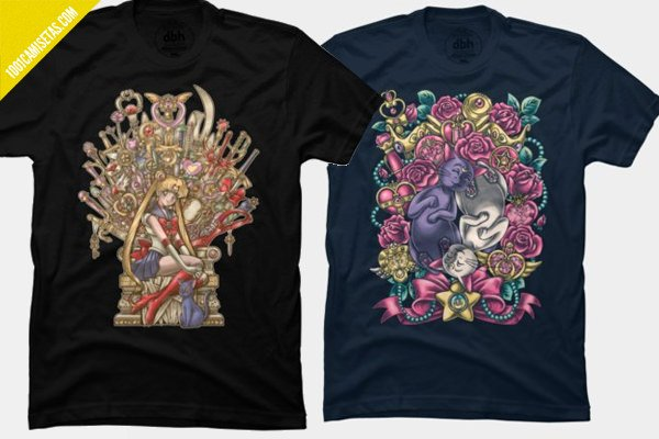 Camisetas sailor moon diseno