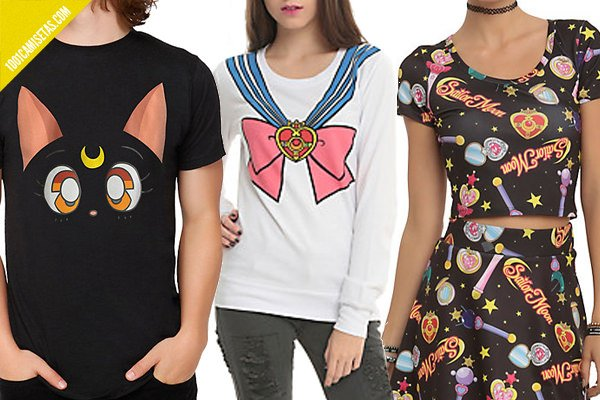 Camisetas sailor moon hottopic