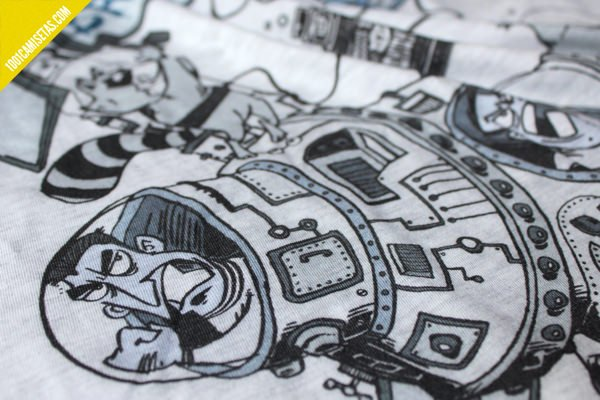 Camisetas raccoon brand dtg