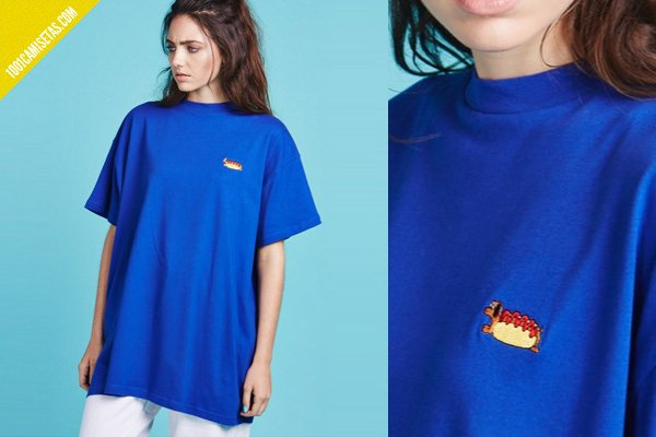 Camiseta hot dog lazy oaf