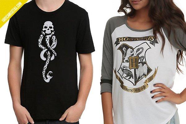 Camiseta mortifagos hogwarts