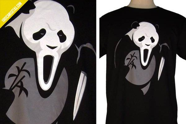 Camiseta scream panda