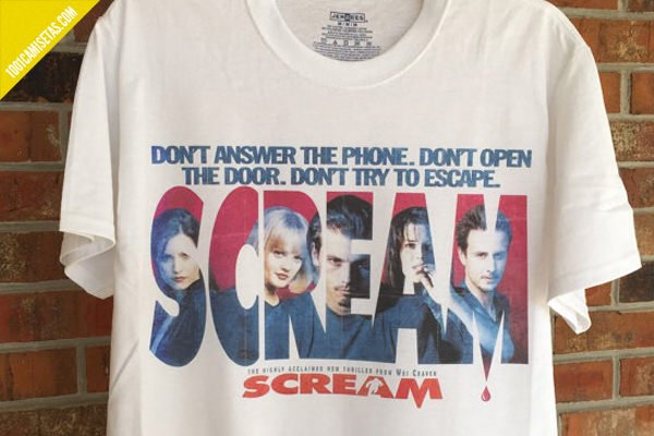 Camiseta scream vintage