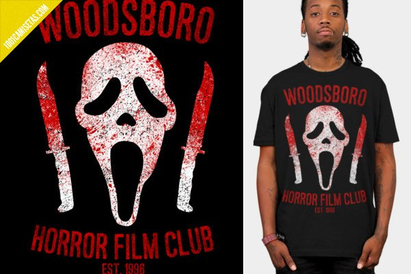 Camiseta scream woodsboro