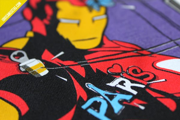 Camiseta serigrafía iron man