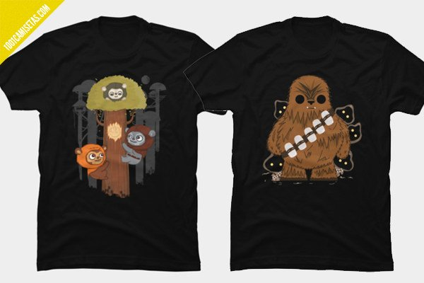 Camisetas star wars chewbacca