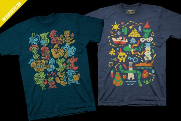 Camisetas videojuegos nintendo