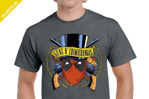 Camiseta deadpool guns chimichanga