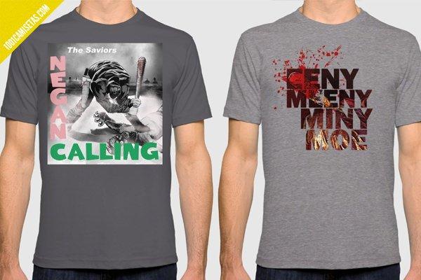 Camisetas walking dead negan