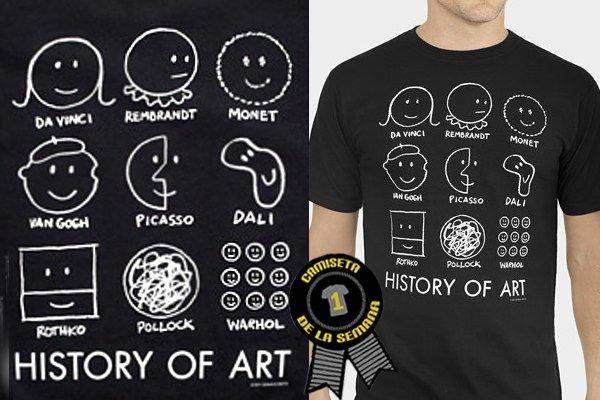 Camiseta semana history art