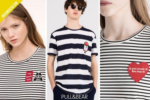 Camisetas de rayas pull bear