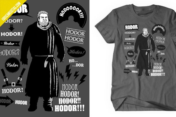 Camisetas game of thrones hodor