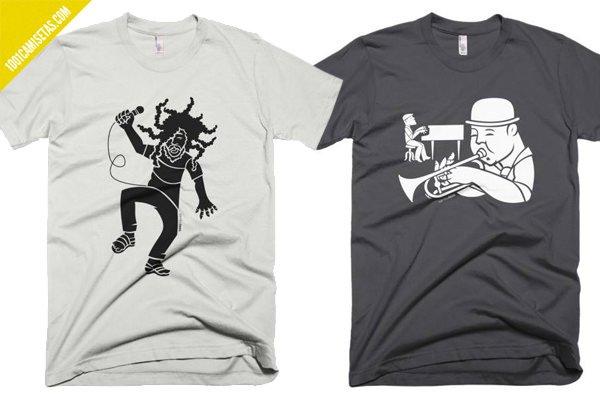Camisetas jazz reggae