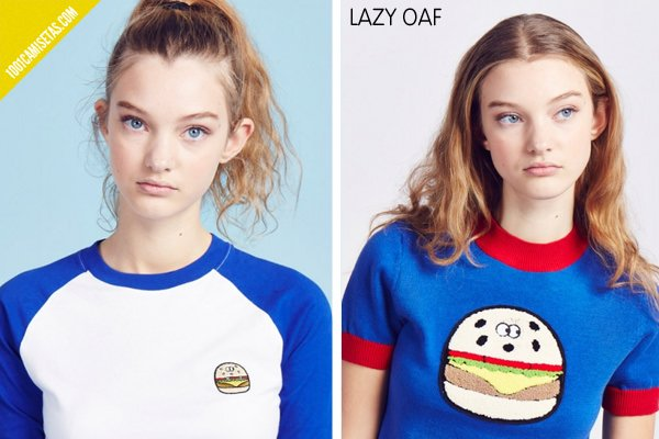 Camisetas parches lazy oaf