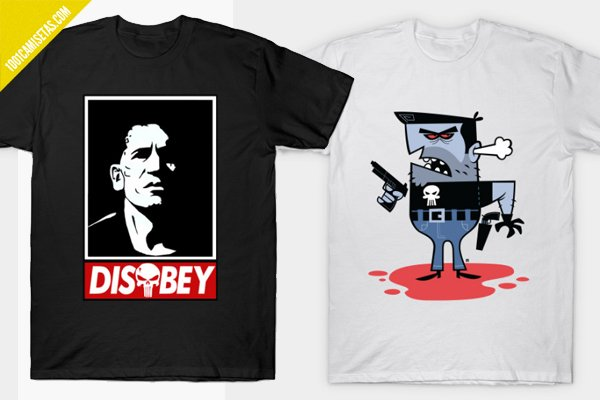 Camisetas punisher teepublic