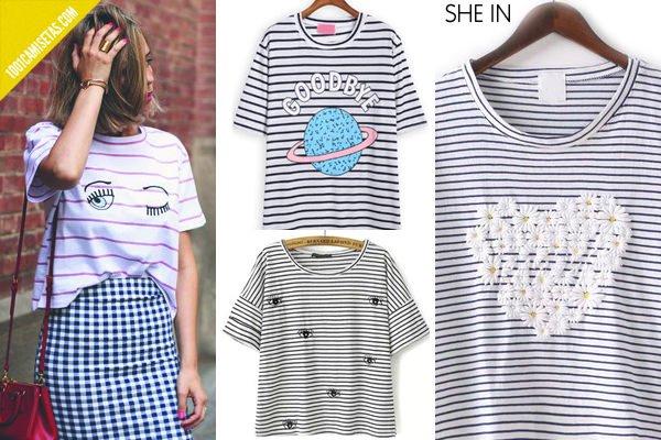 Camisetas rayas shein