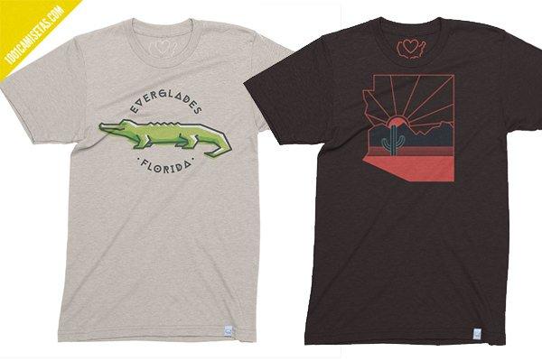 Camisetas usa vintage