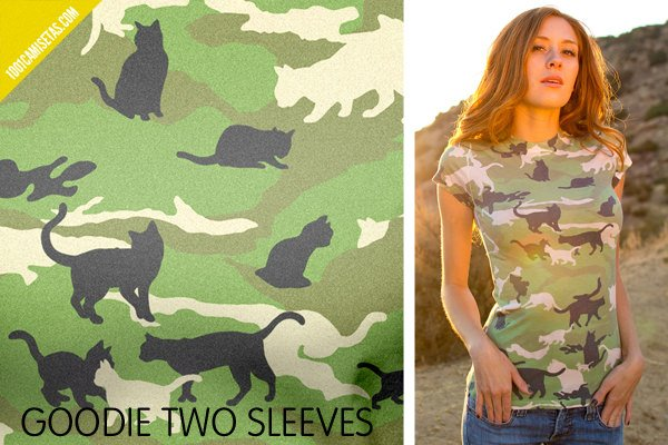 Camisetas camuflaje goodie two sleeves
