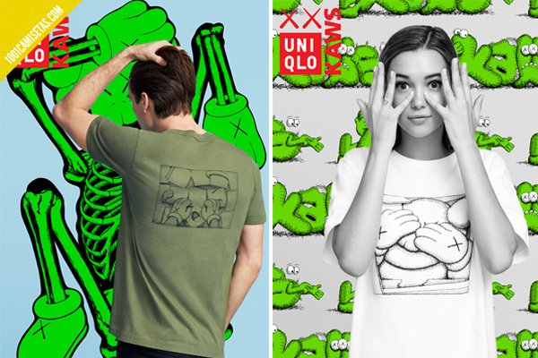 Camisetas uniqlo kaws