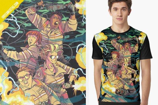 Camisetas full print cazafantasmas