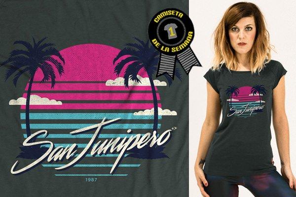 Camiseta black mirror san junipero