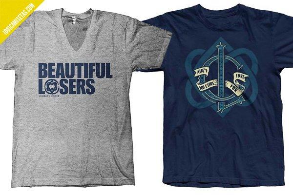 Camisetas beautiful loser leonard cohen